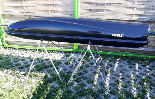 Bagażnik box dachowy Thule XL 500 l. boks na dach czarny narty wędki
