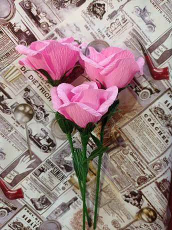 Цветы бумажные декоративные