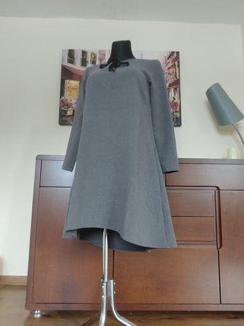 Mosquito sukienka trapezowa szara oversize 36