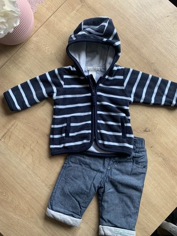 Bluza h&m, spodnie ff- rozmiar 62