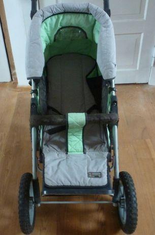 Kolekcjonerski wózek spacerowy firmowa: HOCO aluminium stelaż, zwrotny
