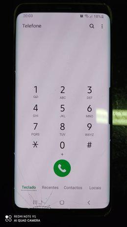 Samsung S9 - 4/64GB - Vidro ecrã partido, c/ acessórios