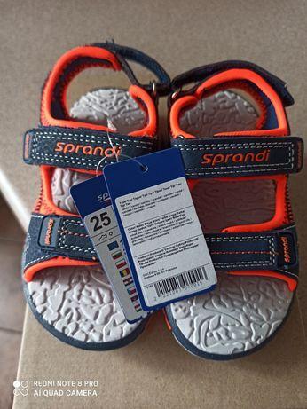 Nowe sandalki chlopiece Sprandi rozm. 25