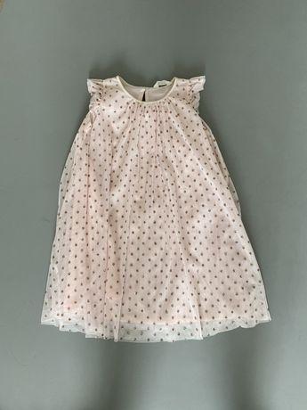 Новое нарядное платье HM р.140