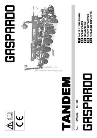 Instrukcja obsługi siewnik GASPARDO Tandem
