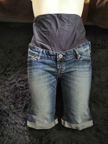 Spodenki ciążowe jeansowe H&M Mama 38