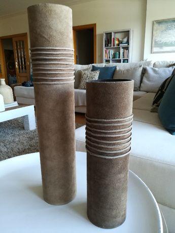 Jarras em Camurça-Pele / Peças decorativas / Potes