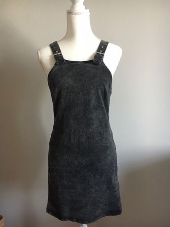 Sukienka jeansowa, na szelkach, r M