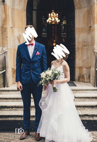 Przepiękna suknia ślubna ślub wesele biała