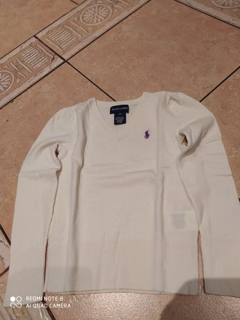 Sweterek Polo Ralph Lauren 100procent wełna 3-4l.