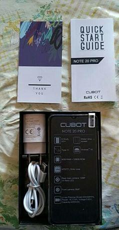 "Smartphone Cubot Note 20 PRO,Niebieski kolor  nowy 6,5"" HD+ 6GB/128 GB"