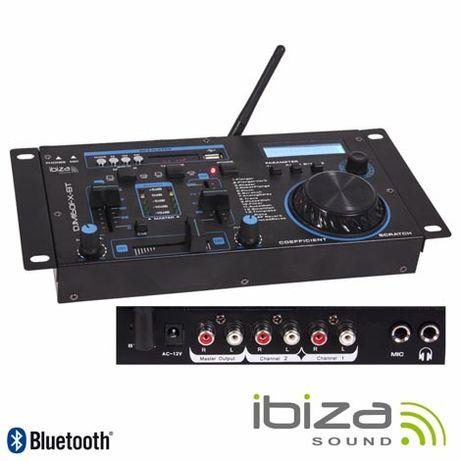 MESA DE MISTURA 19″ - Com 2 Canais, Usb, Bluetooth IBIZA SOUND