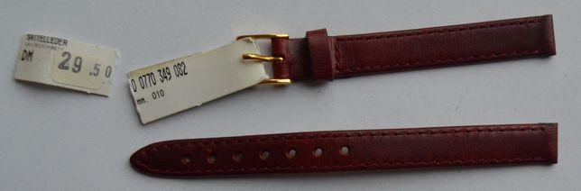 Brązowy damski pasek do zegarka 10 mm. Nowy! Skórzany! Wysoka jakość!