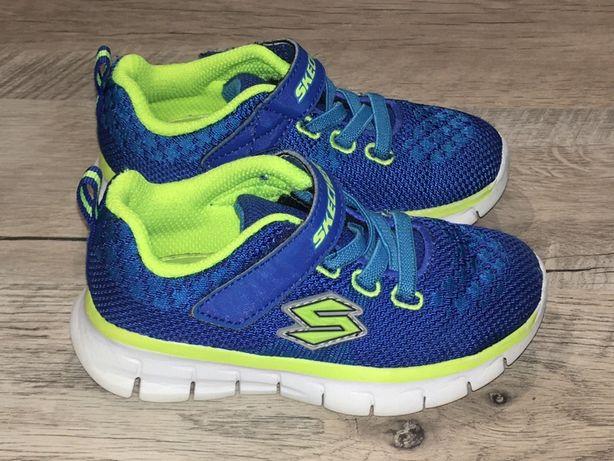Skechers buty sportowe 22 niebieskie zielone adidasy 23 j nowe 14 cm