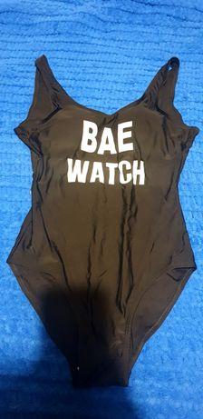 """Слитный черный купальник """"BAE WATCH"""""""
