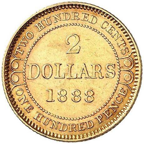 Złota moneta 2 Dolary 1888 r. Nowa Funlandia