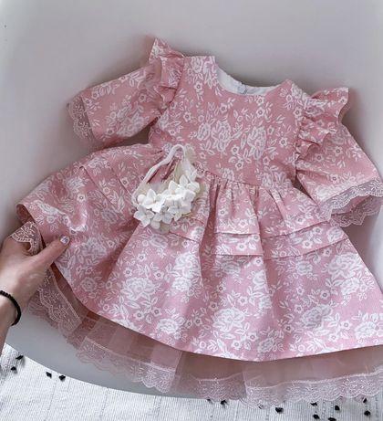 Детское платье, размер 9-12 месяцев