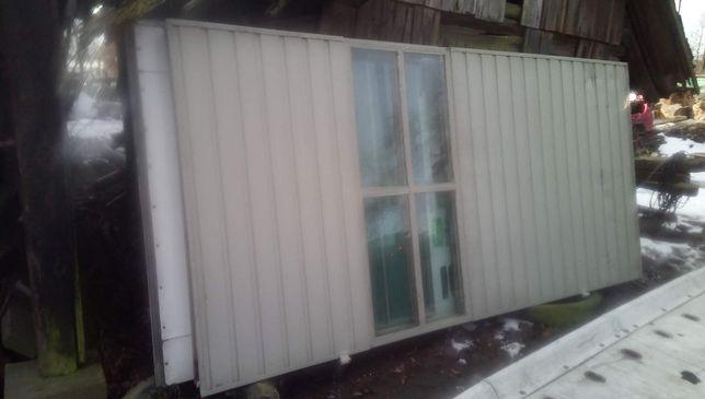 Drzwi garażowe brama szer 340 cm wys 370 ościeżnia Futruna
