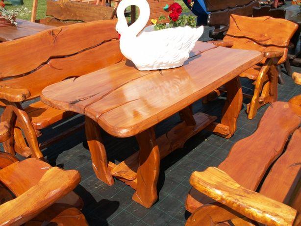 Zestaw mebli ogrodowych STAROPOLSKI z fotelami - drewno liściaste