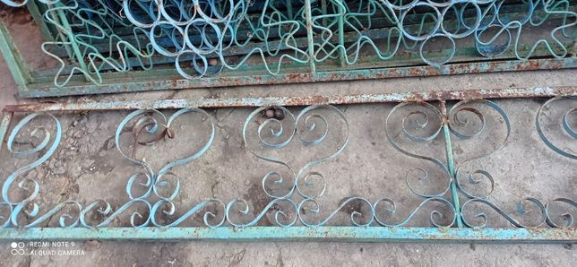Забор 2,9м металл уголок 32мм цена за все