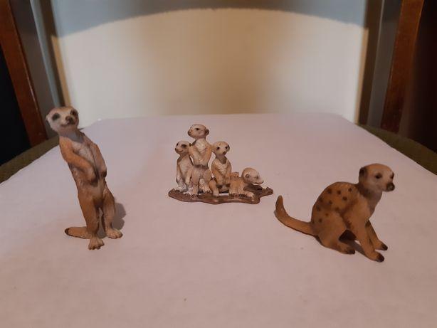 Schleich zestaw surykatek 3 sztuki unikat modele wycofane z 2008 r.
