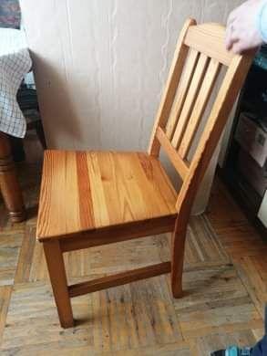 drewniane krzesła sosnowe ( 3 krzesła )