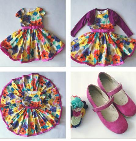 Эксклюзив!!! Шикарный яркий выпусной наряд комплект, платье стиляги
