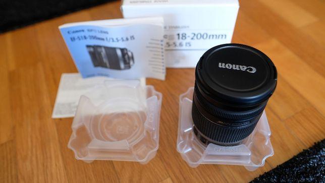 Objectiva Canon EF-S 18-200mm f/3.5-5.6 IS (Nova em Caixa)