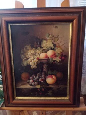 Obraz olejny, Martwa natura z winogronami
