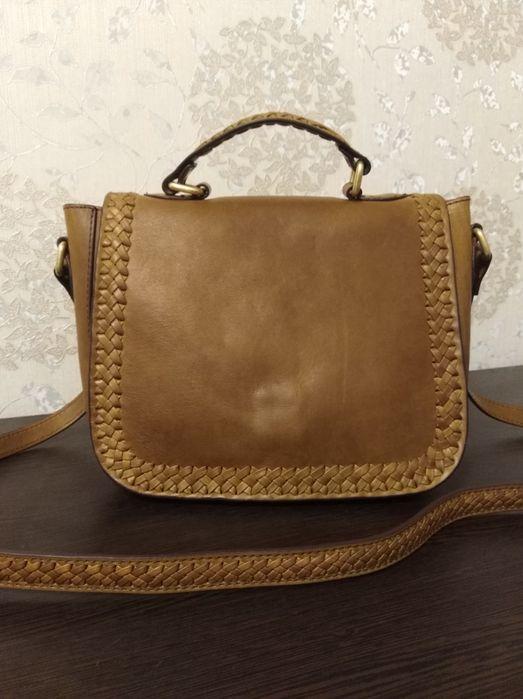 AND / OR Кожаная сумка Isabella с плетеной строчкой Светловодск - изображение 1