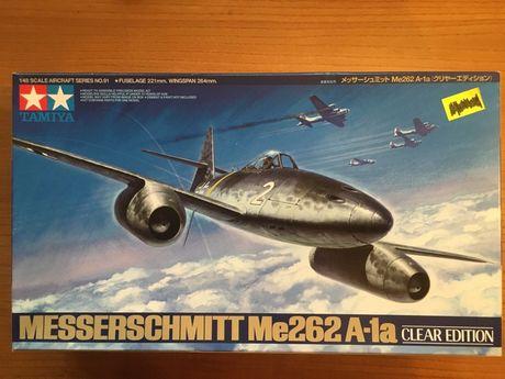 Modelo kit Messerschmitt Me 262 Clear Edition Tamiya