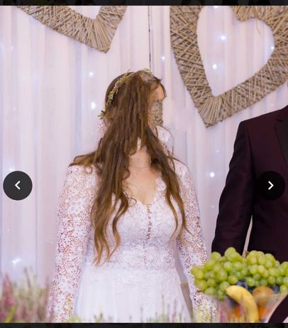 Suknia ślubna długi rekaw
