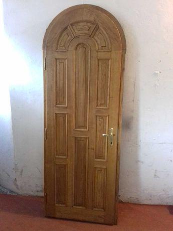 Drzwi dębowe zewnętrzne 245 cm x 90 cm