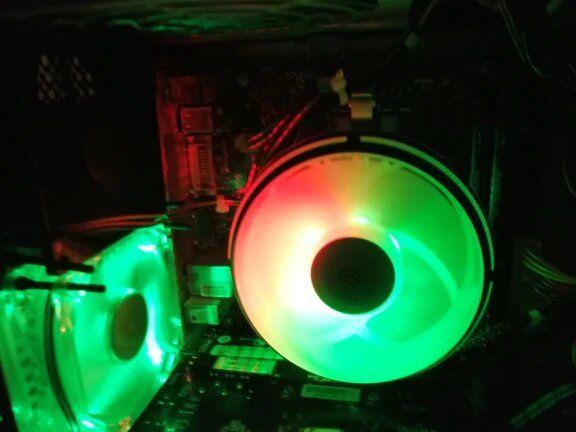 Новый кулер Aigo CPU светодиодный 120 мм rgb LGA/115X/775/AM3/AM4 AMD