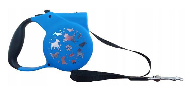 Smycz automatyczna dla psa kota z latarka 3m
