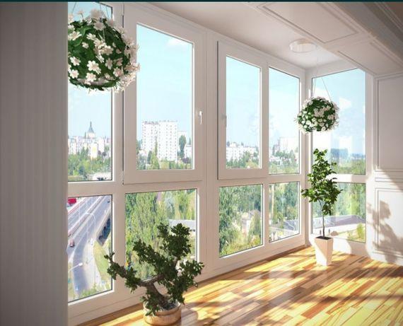 Установка окон, балконов