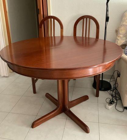 Mesa sala madeira maciça