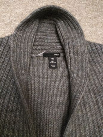 cardigan długi ciepły swetr sweterek H&M - jak nowy - WARTO!
