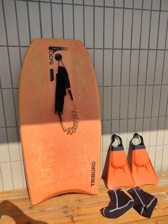 Prancha de Bodyboard + Barbatanas 40-41 + Meias