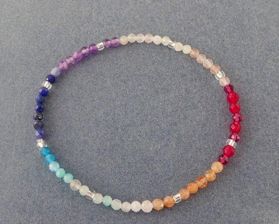 Bransoletka talizman-czakry-kamienie szlachetne-minimalistyczna