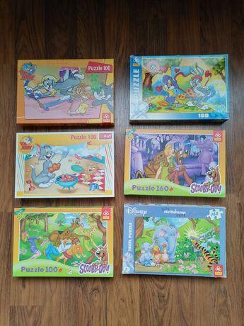 Puzzle z postaciami z bajek