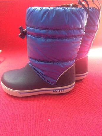 Crocs iridescent gust boto kids navy sea blue