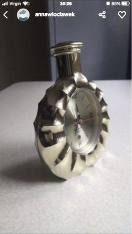 Zegar nakrecany budzik butelka 17 cm wysokosci