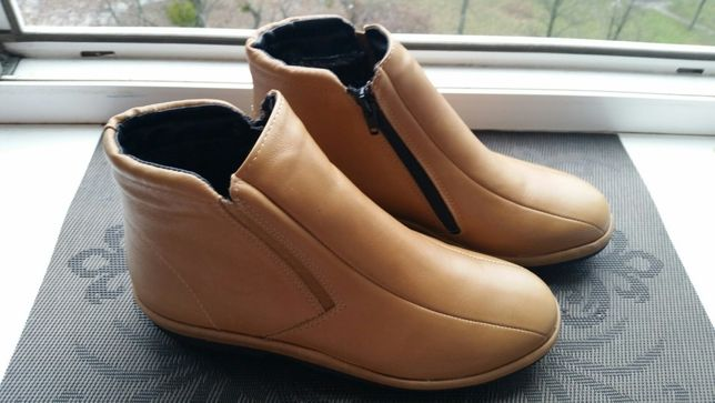 Немецкие кожаные утеплённые ортопед ботинки pedi-doc 38