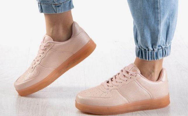 Różowe sportowe damskie buty Fissane