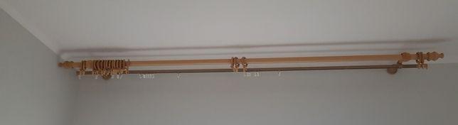 Dwa karnisze 290 i 190 cm