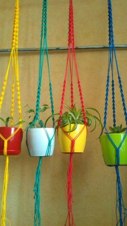Кашпо для цветов, цветы, вазоны, макраме,квіти, декор