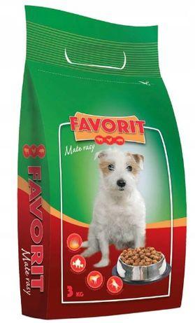 FAVORIT Sucha karma dla psów z wołowiną drobiem i wieprzowiną