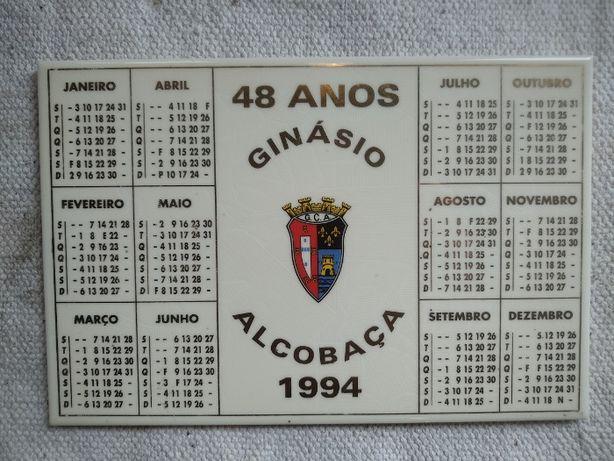Azulejo Ginasio clube de Alcobaça calendário 94