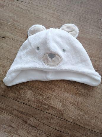 Czapeczka czapka z uszami 0-6 miesięcy